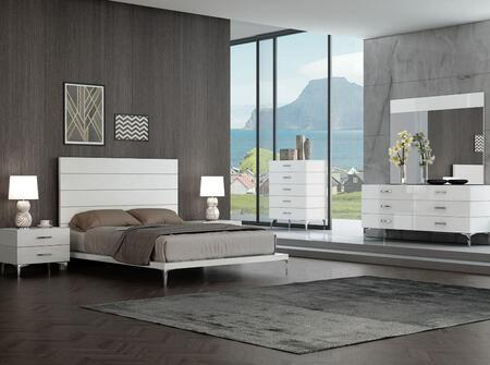Whiteline BQ1345WHT6SET Diva Queen Bedroom Sets | Appliances Connection