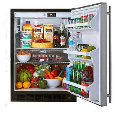 """Marvel 6ARMWWOX 24"""" 5.29 Cu. Ft. ENERGY STAR Built In All Refrigerator with Dynamic Cooling Technology, Interior Lighting, 2 Adjustable Glass Shelves, Leveling Legs & Panel Ready"""