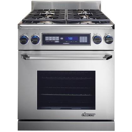 "Dacor ER30DC 30"" Pro-Style Dual Fuel Range with 3.9 Cu. Ft. Oven Capacity, RapidHeat Bake Element, Illumina Burner Controls and Perma-Flame Technology: Color Match"