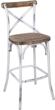 """Acme Furniture Zaire 29"""" Bar Chair with Chinese Fir Wood Seat, """"X"""" Back Design and Antique Steel Spray Painting Legs in"""