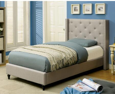 Furniture of America CM7677GYTBED Anabelle Series  Twin Size Platform Bed