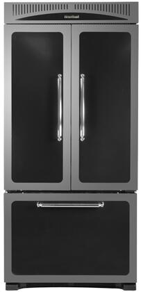 Heartland HCFDR20BLK Classic Series Counter Depth French Door Refrigerator with 19.8 cu. ft. Total Capacity 4 Glass Shelves