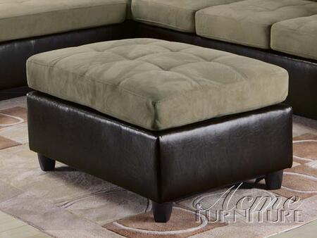 Acme Furniture 15207 Milano Series Contemporary Faux Leather Wood Frame Ottoman