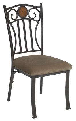 Powell 731434 Contemporary Fabric Metal Frame Dining Room Chair