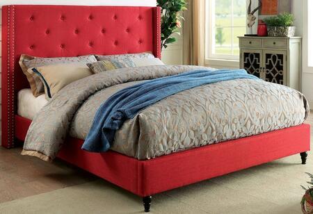Furniture of America CM7677RDEKBED Anabelle Series  King Size Platform Bed