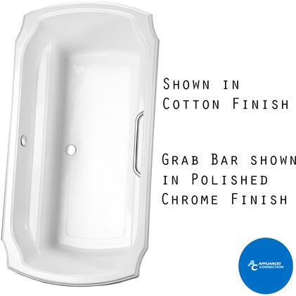 Toto ABY974N12 Guinevere Series Drop-In Soaker Bathtub with Acrylic Construction, Slip-Resistant Surface, and Grab Bar, Sedona Beige Finish
