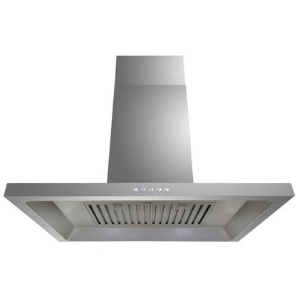 """Golden Vantage GWR38A30 30"""" Wall Mount Range Hood with 760 CFM, 65 dB, Crisp Analog Push Buttons, 1.5W LED Lighting, 3 Fan Speed, Stainless Steel Baffle Filter and X: Stainless Steel"""