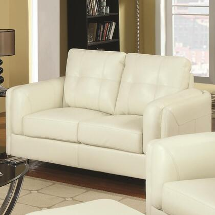 Coaster 504382 Sawyer Series Bonded Leather Stationary with Wood Frame Loveseat
