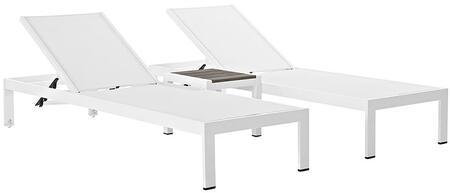 "Modway EEI2471WHIWHISET 76"" Lounge Chair"