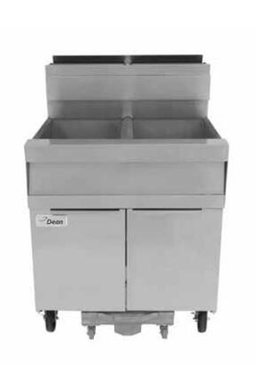 "Dean SCFSM250G 31"" Super Marathon Gas Fryer with Built-In Filtration, 100Lb Oil Capacity, 240,000 BTU Input, Durable Temperature Probe and Millivolt Temperature Control in Stainless Steel"