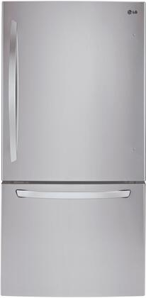 """LG LDCS22220 30"""" Bottom Freezer Refrigerator with 22 cu. ft. Capacity, 2 SpillProtector Tempered Glass Shelves, 2 Humidity Crispers, 2 Gallon Door Storage Bins, and LED Interior Lighting, in"""