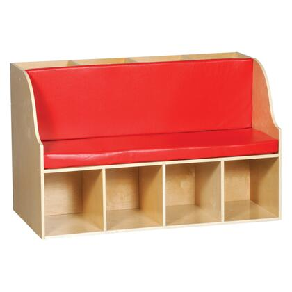 "Guidecraft G6436 Children""s Armless Wood Nylon Bench"