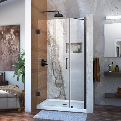 DreamLine Unidoor Shower Door with Base 12 28D 12P support arm 09 72 WM 11 16