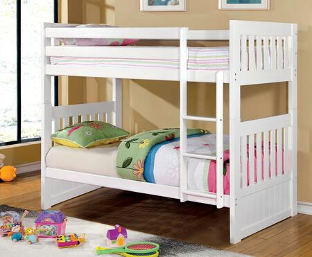Furniture of America CMBK607TWHBED Canberra II Series  Twin Size Bunk Bed