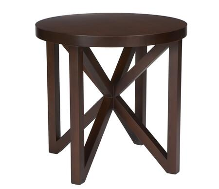 Allan Copley Designs 340402 Snowmass Series Contemporary Round End Table