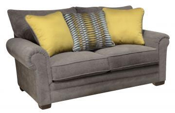 "Jackson Furniture Anniston Collection 4342-02- 71"" Loveseat with Chenille Fabric Upholstery, Three Toss Pillows and Reversible Seat Cushions in"