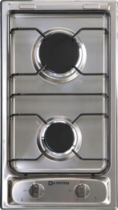 "Verona VECTG212FDS 12"" Gas Sealed Burner Style Cooktop, in Stainless Steel"