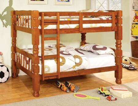 Furniture of America CM2527OAKBED Carolina Series  Twin Size Bed