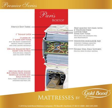 Gold Bond 522PARISQ Premiere Series Queen Size Box Top Mattress