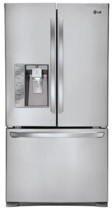 LG LFX31935ST  French Door Refrigerator with 30.5 cu. ft. Total Capacity 4 Glass Shelves
