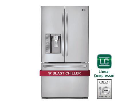 Lg Lfx31935st French Door Refrigerator In Stainless Steel