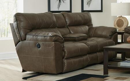 Catnapper 4349128318308318128309 Milan Series Leather Reclining with Metal Frame Loveseat