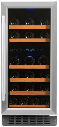 Smith and Hanks RW88xR Wine Cooler with Low Profile Wood Accented Wine Shelf, Double Paned UV Shielded Glass Door with Stainless Steel Trim