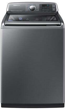 "Samsung WA52J8700 27"" Top Load Steam Washer with 5.2 cu. ft. Capacity, Activewash, AquaJet Deep Clean, and Energy Star Qualified"