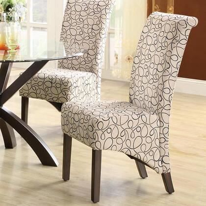 Monarch I1789TN Armchair Fabric Wood Frame Accent Chair