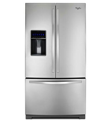 "Whirlpool WRF736SDAM 36""  French Door Refrigerator with 24.7 cu. ft. Capacity in Monochromatic Stainless Steel"