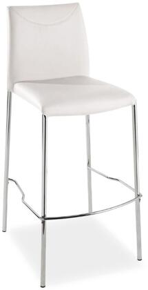 Casabianca TC2014WHBAR Romi Series Residential Leather Upholstered Bar Stool