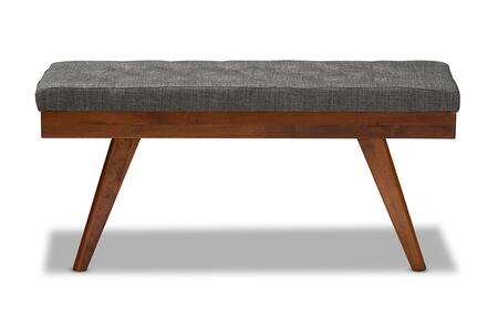 Wholesale Interiors Alona Alona-Medium Oak/Medium Grey-Bench front