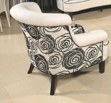 Chintaly NANTUCKETCHR Nantucket Series Fabric with Wood Frame in Beige