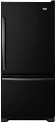 "Amana ABB1924BRB 29.63""  Bottom Freezer Refrigerator with 18.7 cu. ft. Capacity in Black"