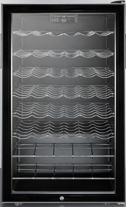 "Summit SWC525LBI 19.94"" Freestanding Wine Cooler, in Black"