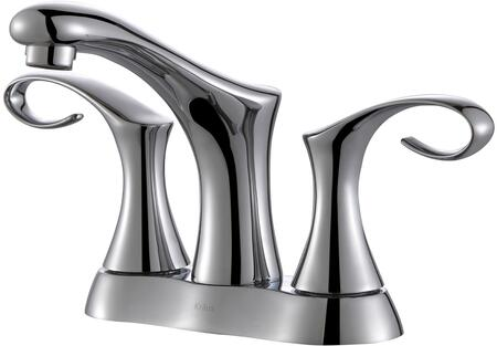 "Kraus FUS13102 Premier Series Cirrus 4"" Bathroom Basin Centerset Faucet with Solid Brass Construction, Neoperl Aerator, and Ceramic Cartridge"