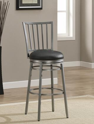 American Heritage 11111XX Easton Series Stool with Metallic Frame and Vinyl Upholstery in Black