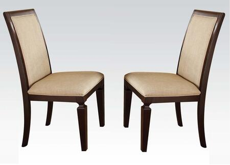Acme Furniture 70487 Agatha Series Transitional Fabric Wood Frame Dining Room Chair