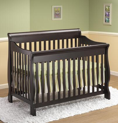 "Orbelle 314 54"" 4-in-1 Sleigh Crib with Hardwood Construction and Static Side Rail in"
