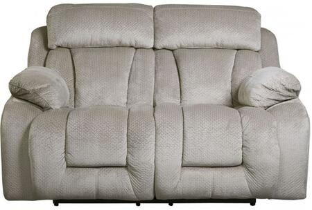 Milo Italia MI644822PPEBB Landen Series Fabric Reclining with Metal Frame Loveseat