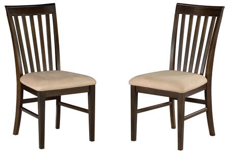 Atlantic Furniture MISSIONDCOC Mission Collection Set of 2 Dining Chairs with Oatmeal Seat Cushions: