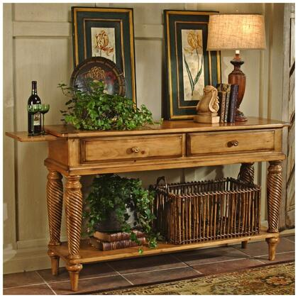 "Hillsdale Furniture 450SB Wilshire 35"" Long Sideboard with 2 English Dovetail Drawers, Bottom Shelf and Chilean Pine Construction in"