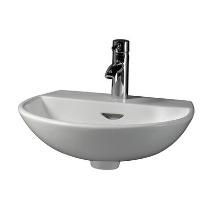 Barclay 4348WH White Wall Mount Sink