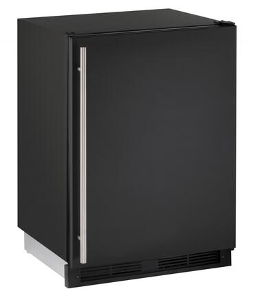 """U-Line U1224RF 24"""" Compact Refrigerator/Freezer with 4.2 Cu. Ft. Refrigerator Capacity, 1.5 Cu. Ft. Freezer Capacity, 3 Removable Tempered Glass Shelves, Digital Touch Pad Control and LED Lighting, in"""