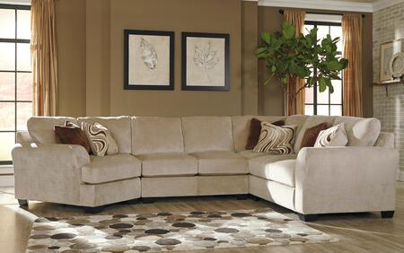 Benchcraft Hazes 657014PSECCUD 4-Piece Sectional Sofa with X Arm Facing Cuddler in Fleece Color