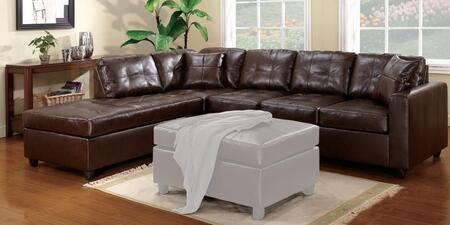 Acme Furniture 50090 Milano Series Sectional Leather Sofa