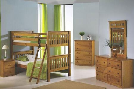 Donco 120H  Twin Size Bunk Bed