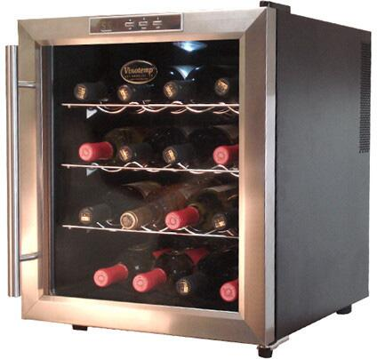 vinotemp vt16teds 17 inch stainless steel freestanding wine cooler rh appliancesconnection com