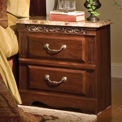 Standard Furniture 57207 Triomphe Series Rectangular Wood Night Stand