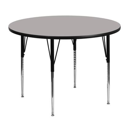 "Flash Furniture XU-A48-RND-XX-H-A-GG 48"" Round Activity Table with 1.25"" Thick High Pressure Laminate Top and Standard Height Adjustable Legs"
